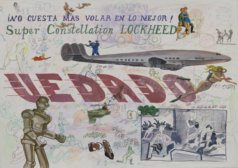 Vedado 130, de la serie Vedado, 2009. Gesso, gouache, marker and colored pencil on paper, 27 1/2 x 39 1/2 in.