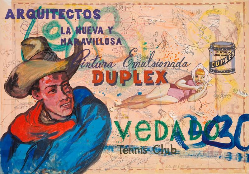 Vedado 138, de la serie Vedado, 2009. Gesso, gouache, marker and colored pencil on paper, 27 1/2 x 39 1/2 in.