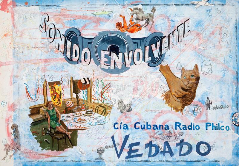 Vedado 139, de la serie Vedado, 2009. Gesso, gouache, marker and colored pencil on paper, 27 1/2 x 39 1/2 in.