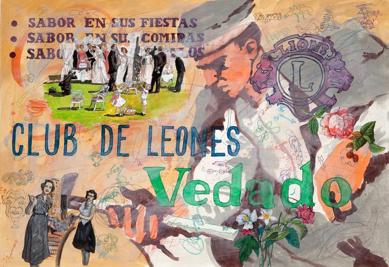 Vedado 163, de la serie Vedado, 2008. Gesso, gouache, marker and colored pencil on paper, 19 1/2 x 27 1/2 in.