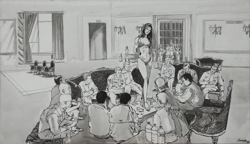 No. 4, de la serie Secreto de Estado (No. 4, from the series State Secret), 2009. Acrylic on canvas, 33 x 56 in.
