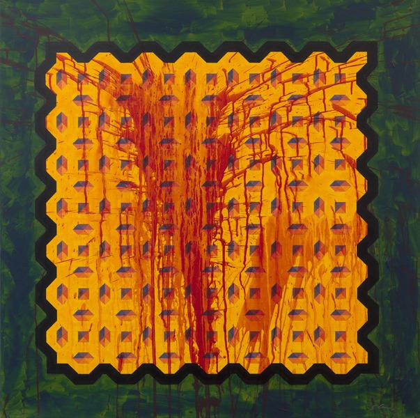 Sutta II (Micro-Chip), 2014. Acrylic on canvas. 39 5/16 x 39 5/16 in.
