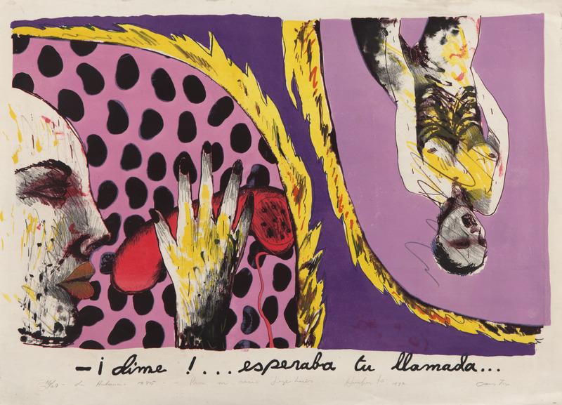 - ¡Dime!...esperaba tu llamada..., de la serie Cuatro segundos de papel (- Hello!...I Was Waiting for your Call..., from the series Four Seconds of Paper), 1985.