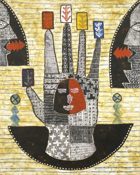 La mano poderosa (The Mighty Hand), 1999. Oil on canvas. 39 1/4 x 31 3/4 in.