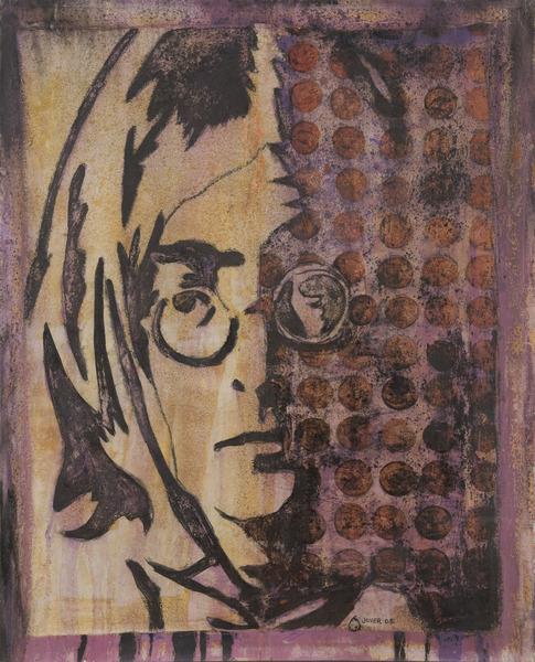 Lennon IV, 2005. Oil and acrylic on canvas. 38 3/4 x 31 1/2 in.