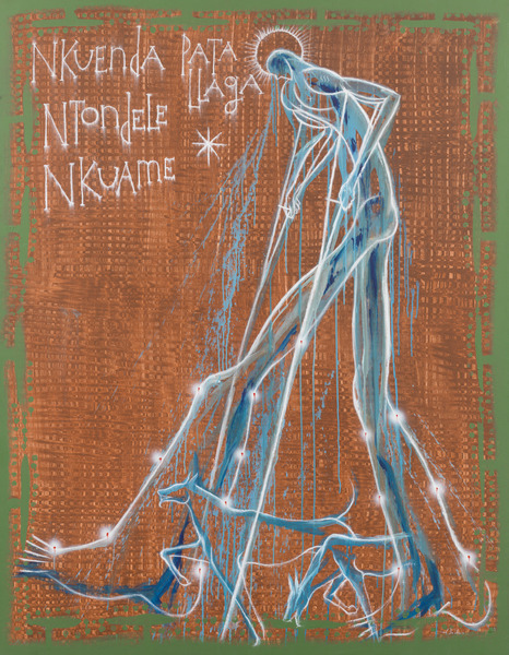 Nkuenda Ntondele Nkuame Pata Llaga, 2013. Acrylic on canvas. 66 x 50 in.