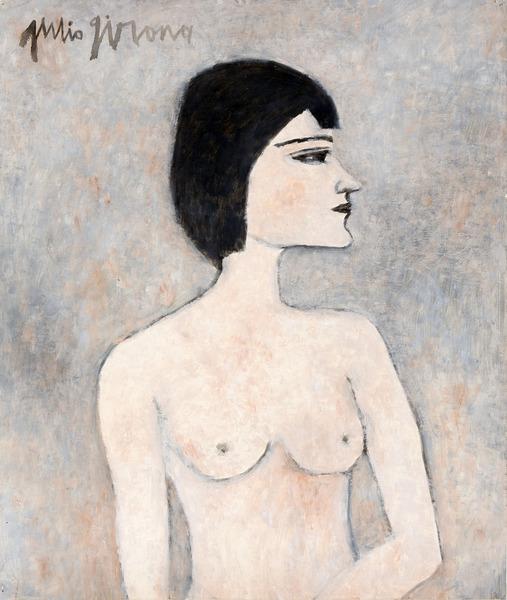 Olga, n.d. Oil on paper. 23 1/4 x 19 11/16 in.