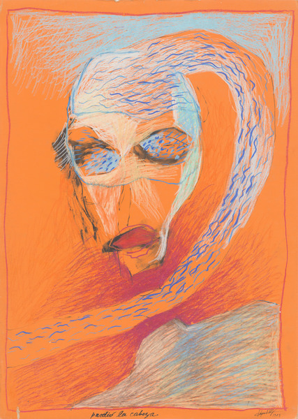 Perdió la cabeza (Lost His Head), 1984. Acrylic and pastel on paperboard. 27 5/8 x 19 5/8 in.
