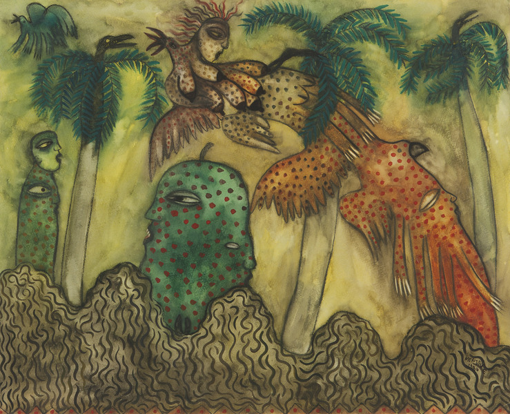 Untitled, 1986. Pastel on paper. 18 x 22 1/2 in.