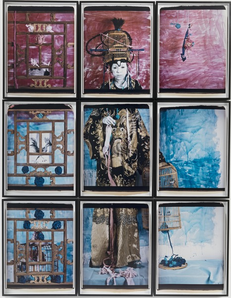 The Flag. Color Code Venice 13, 2013. Polaroid photographs. Nine panels of 29 3/4 x 22 3/4 each.