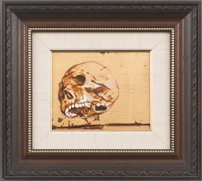 Vanitas (Calavera del Che) (Vanitas (Skull of Che)), 2009. Acrylic and gold leaf on wood. 14 1/4 x 15 3/4 in.