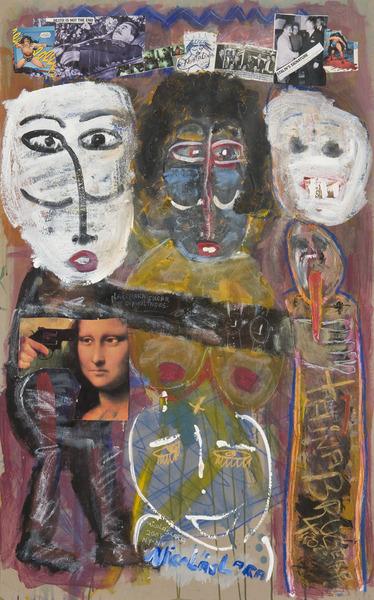 Tania Brugera Trotskista (Trotskyist Tania Bruguera), 2008. Mixed media on cardboard. 46 x 29 in.