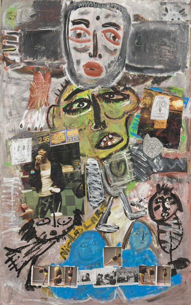 Untitled, 2008. Mixed media on cardboard. 46 x 29 in.