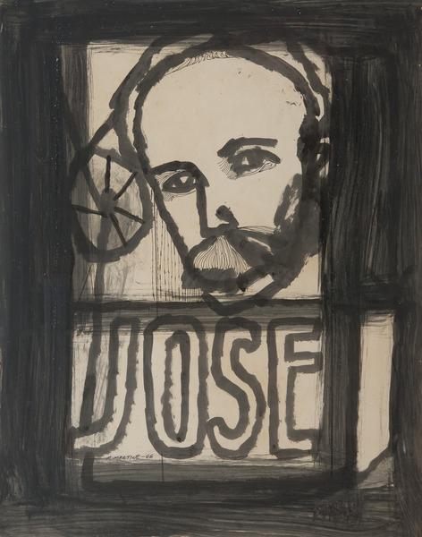 Sin título (José) [Untitled (José)], 1966. Ink on cardstock. 28 x 22 in.