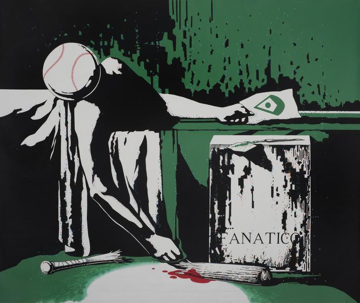 Fanático (Fan), 2013. Acrylic on canvas. 45 x 55 in.