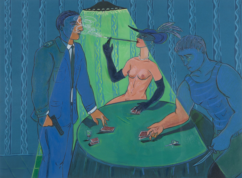 El juego (The Game), 2005. Acrylic on paper. 19 x 25 1/2 in.
