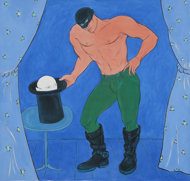 He Is a Magician, from the series The Punisher, 2010. Oil on canvas. 72 x 72 in.