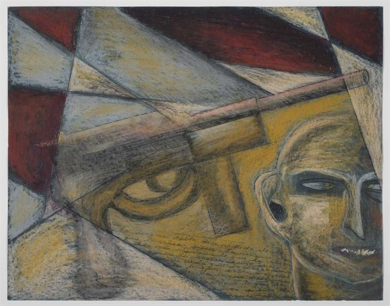 Untitled, 2004. Crayon and pen on paper. Paper: 19 1/4 x 25 1/2 in. Framed: 25 1/2 x 31 1/8 x 1 3/4 in.