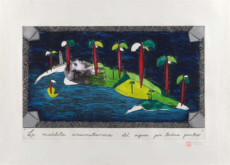 La maldita circunstancia del agua por todas partes (The Damned Circumstance of Water Everywhere), 1993. Etching and aquatint. Paper: 28 1/4 x 39 1/4 in. Framed: 34 1/2 x 45 1/2 in.