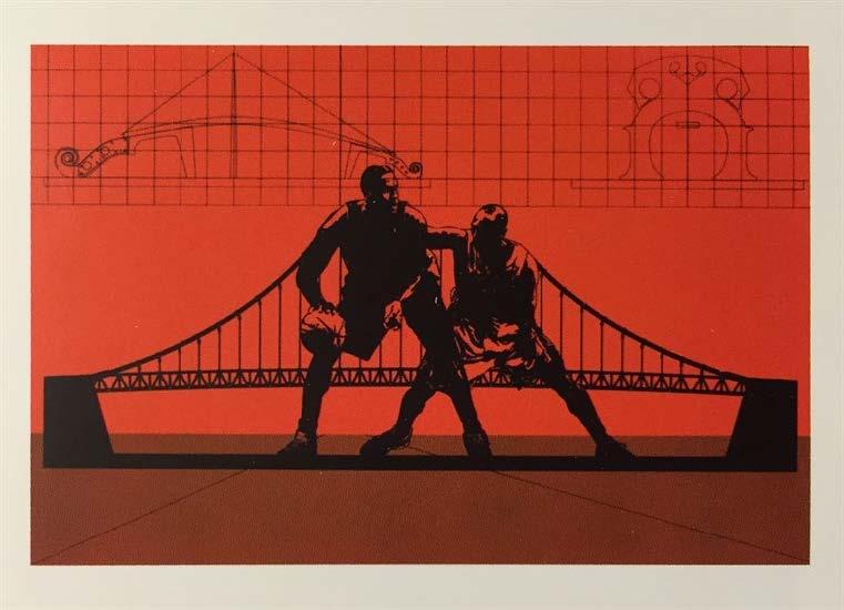 Puente, del Portafolio No. 1 (Bridge, from the Portfolio No. 1), 2013-2014. Silkscreen on Fabriano paper. Paper: 19 3/4 x 27 3/4 in.