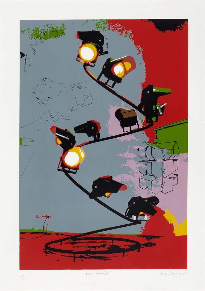 Rojo Verdoso, del Portafolio No. 1 (Greenish Red, from the Portfolio No. 1), 2013-2014. Silkscreen on Fabriano paper. Paper: 27 3/4 x 19 3/4 in.