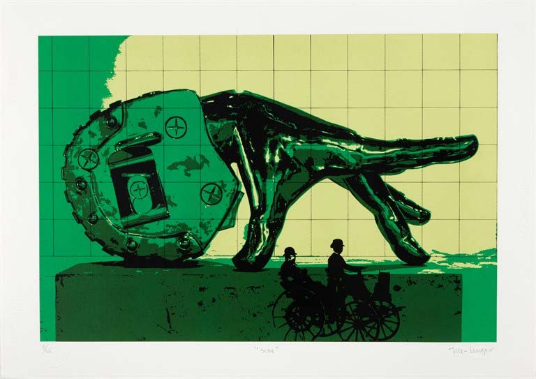 Size, del Portafolio No. 1 (Size, from the Portfolio No. 1), 2013-2014. Silkscreen on Fabriano paper. Paper: 19 3/4 x 27 3/4 in.