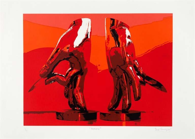 Reflejo, del Portafolio No. 1 (Reflex, from the Portfolio No. 1), 2013-2014. Silkscreen on Fabriano paper. Paper: 19 3/4 x 27 3/4 in.