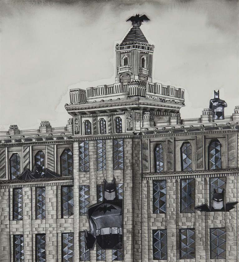 Bacardí, de la serie Visitantes en La Habana (Bacardi, from the series Visitors in Havana), 2003. Watercolor and ink on paper. Image: 17 1/2 x 16 in. Framed: 23 x 21 1/2 x 1 1/2 in.