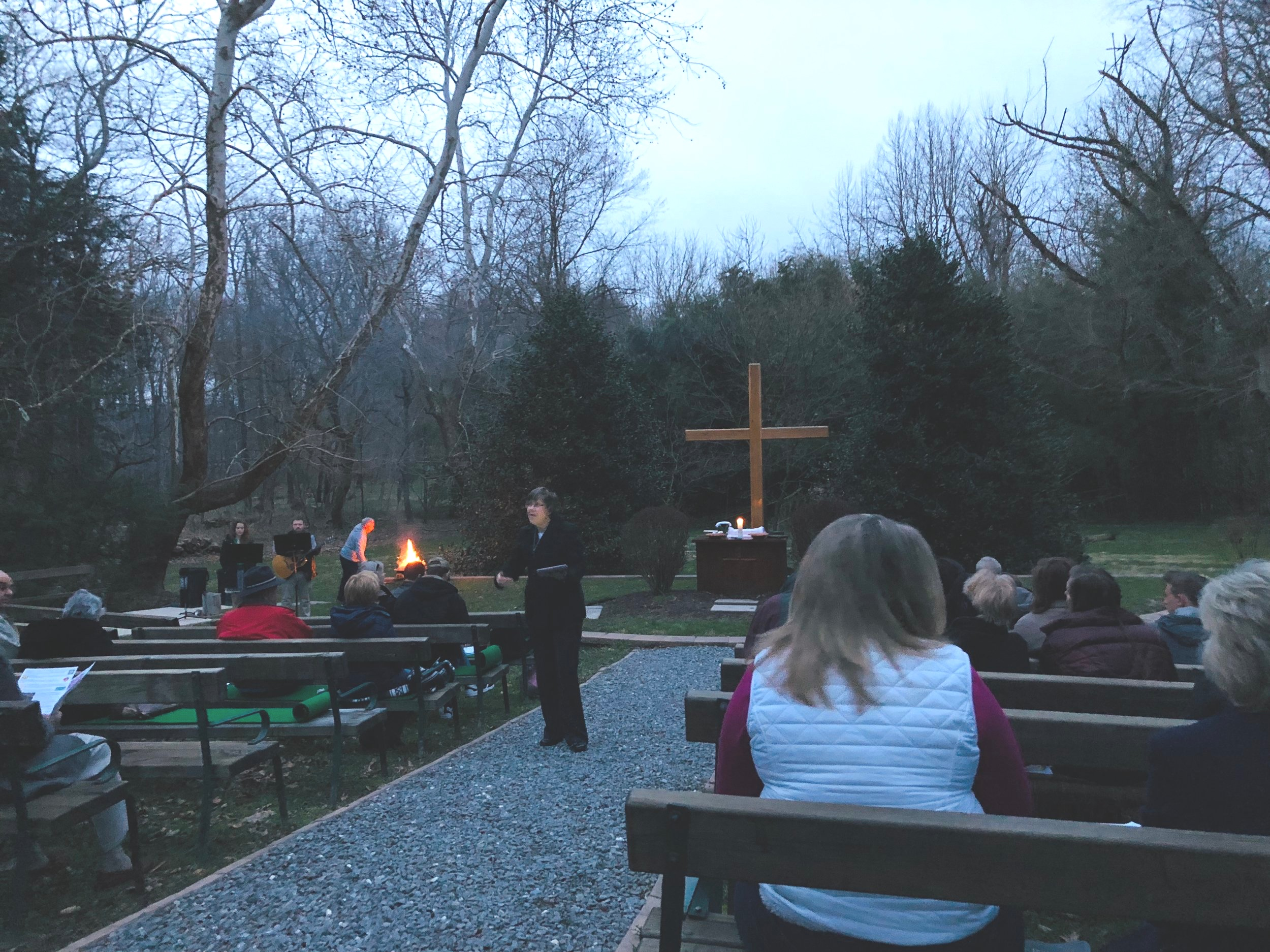 Sunrise Service in the Green Cathedral