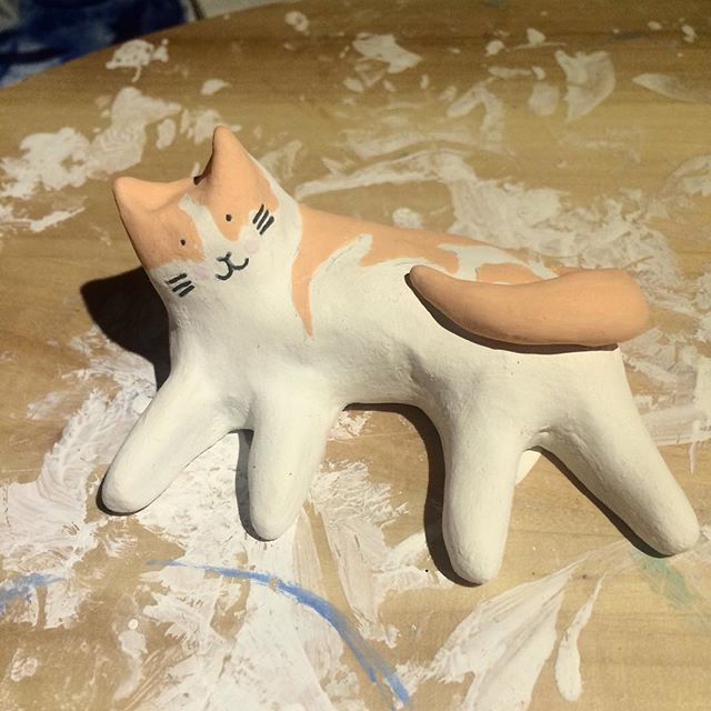 New #natcatcats commission ready for baking. Order yours now in the Natcats shop. ❤️ . . . #felinefriends #ginger #gingercats #happycats #catstateofmind #catstagram #natcats #nathaliemooredesign #catlover #catloversclub #cutecatthings #cutecats #adorablecats #catpic #catworld #cats🐱