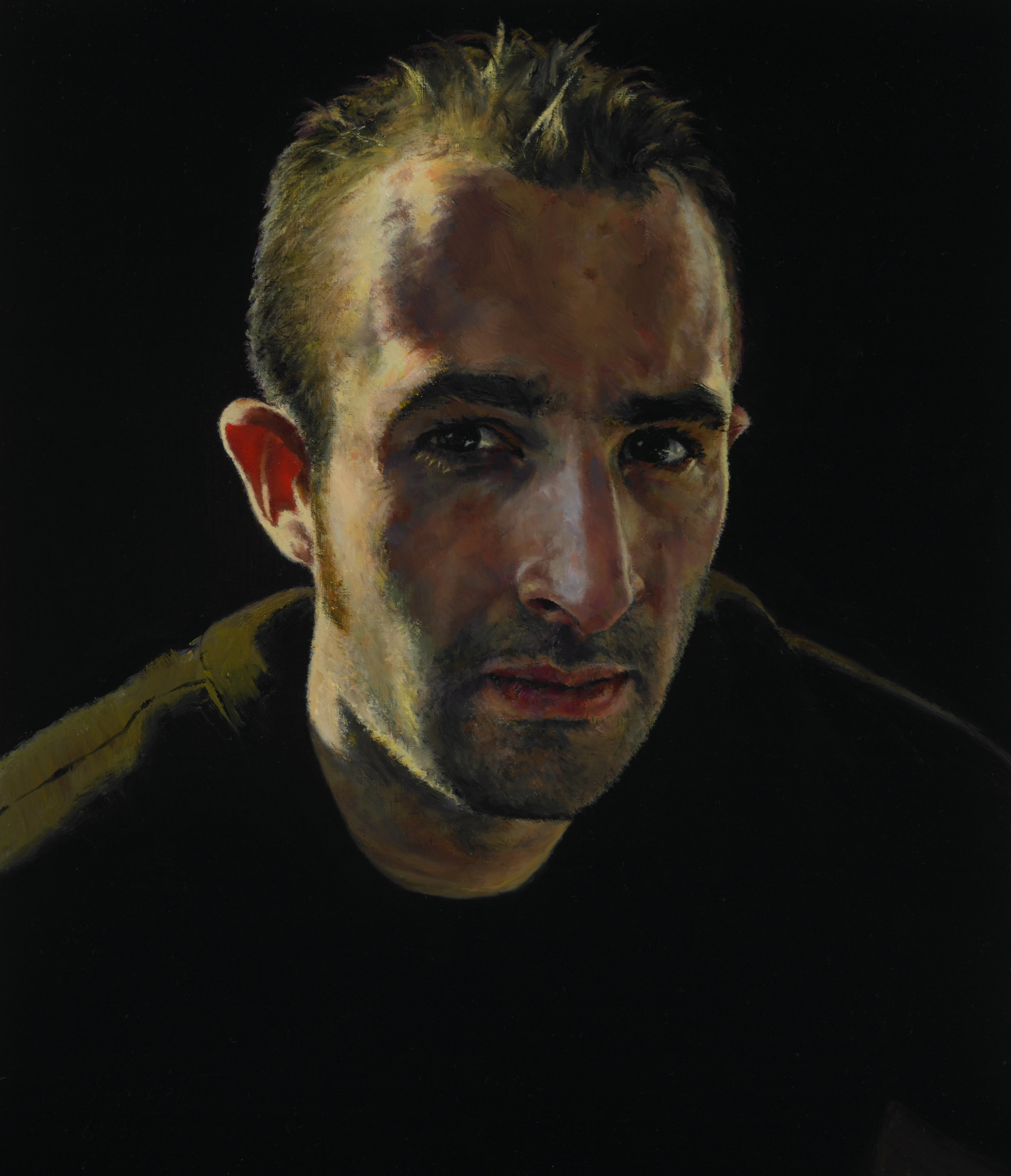 "Peter , Oil on Wood Panel, 2006, 14"" x 12"", Private Collection"