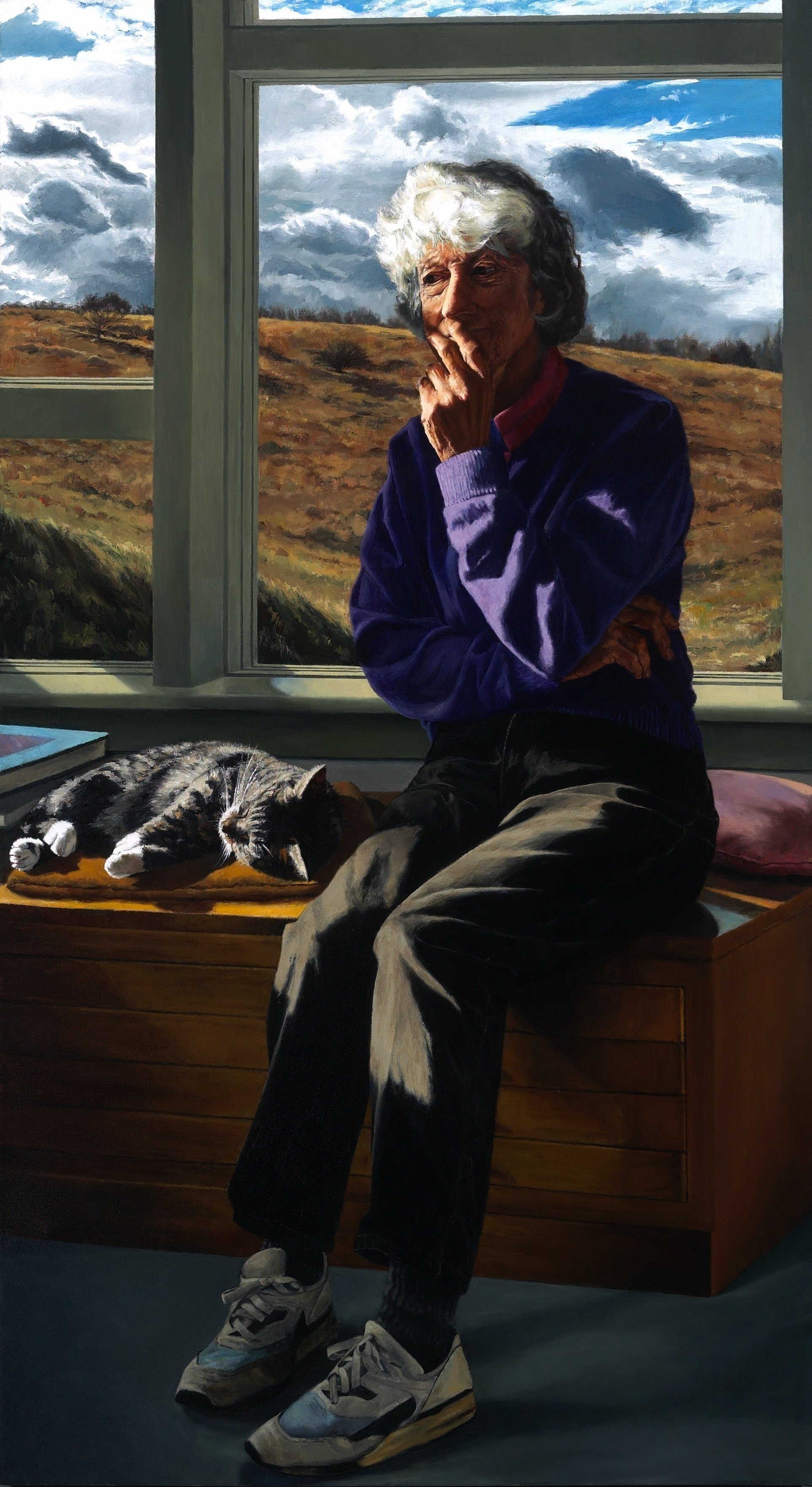 "Lois in My Landscape , Oil on Canvas, 2005, 62"" x 34"""