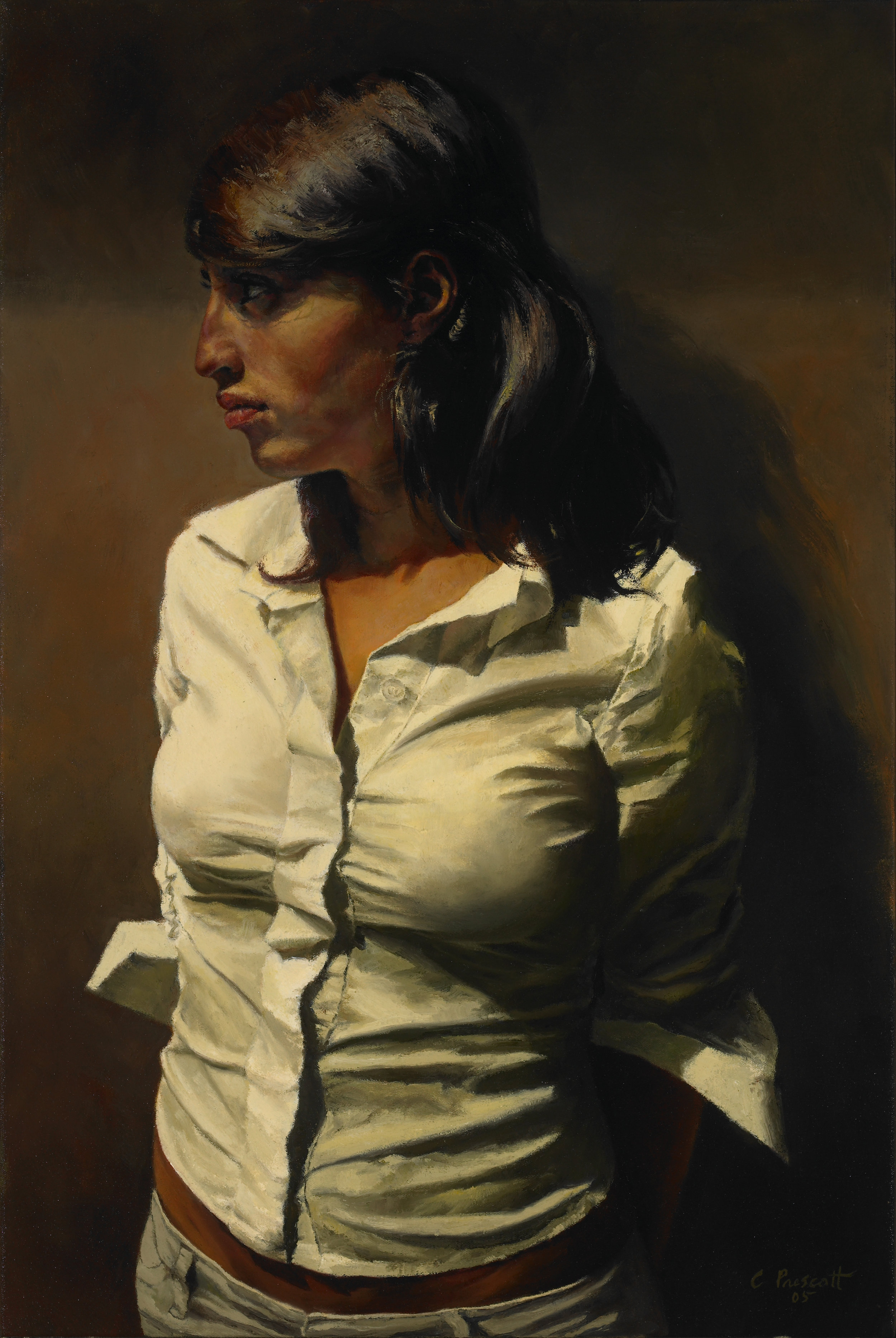 "The Spanish Profile: Portrait of Caterina  Oil on Canvas, 2006, 24"" x 16"""