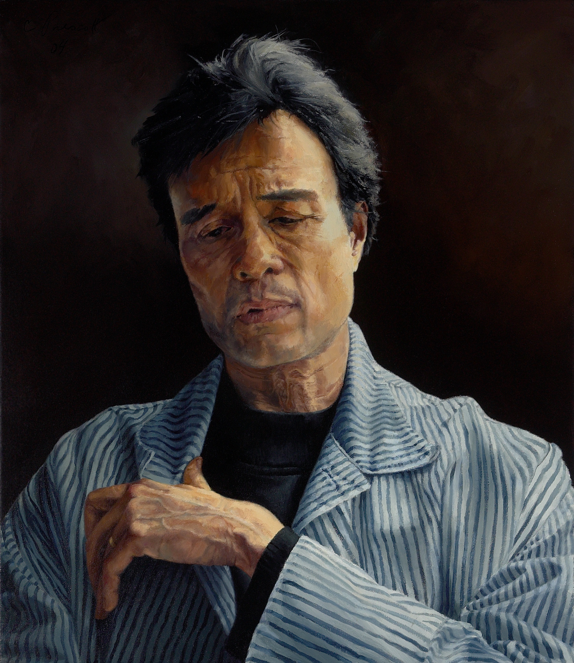"Wayne Longing, Swallowing , Oil on Canvas, 2004, 36"" x 24"""