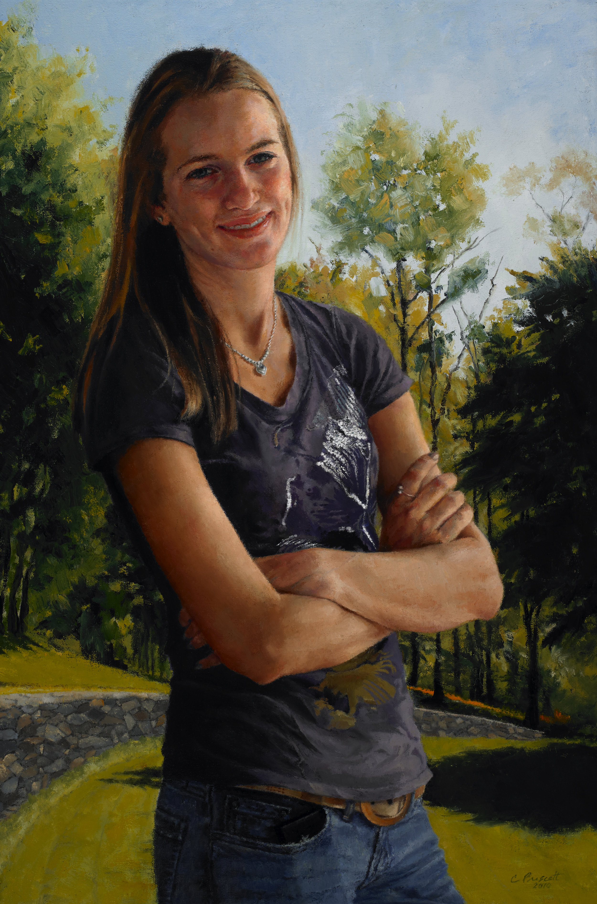 "The Lintons , Oil on Canvas, 2010, 24""x16""  Private Collection"