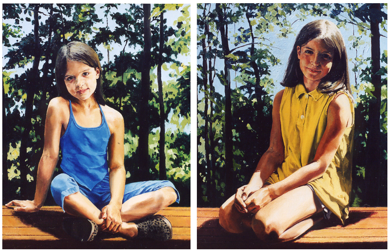 "The Murray Granddaughters: Julia , Oil on Canvas, 2002, 36"" x 28""  The Murray Granddaughters: Colleen , Oil on Canvas, 2002, 36"" x 28""  Private Collection"