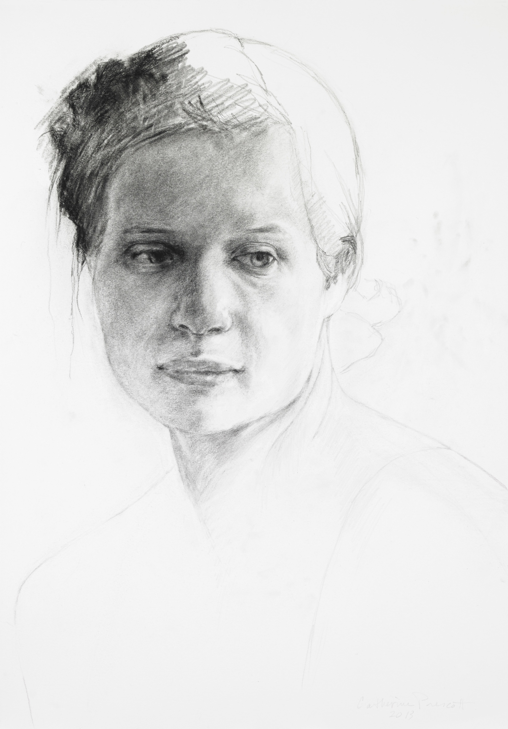 Study of Elle , Graphite on Paper, 2013, 19 x 13 1/4, Collection State Museum of Pennsylvania