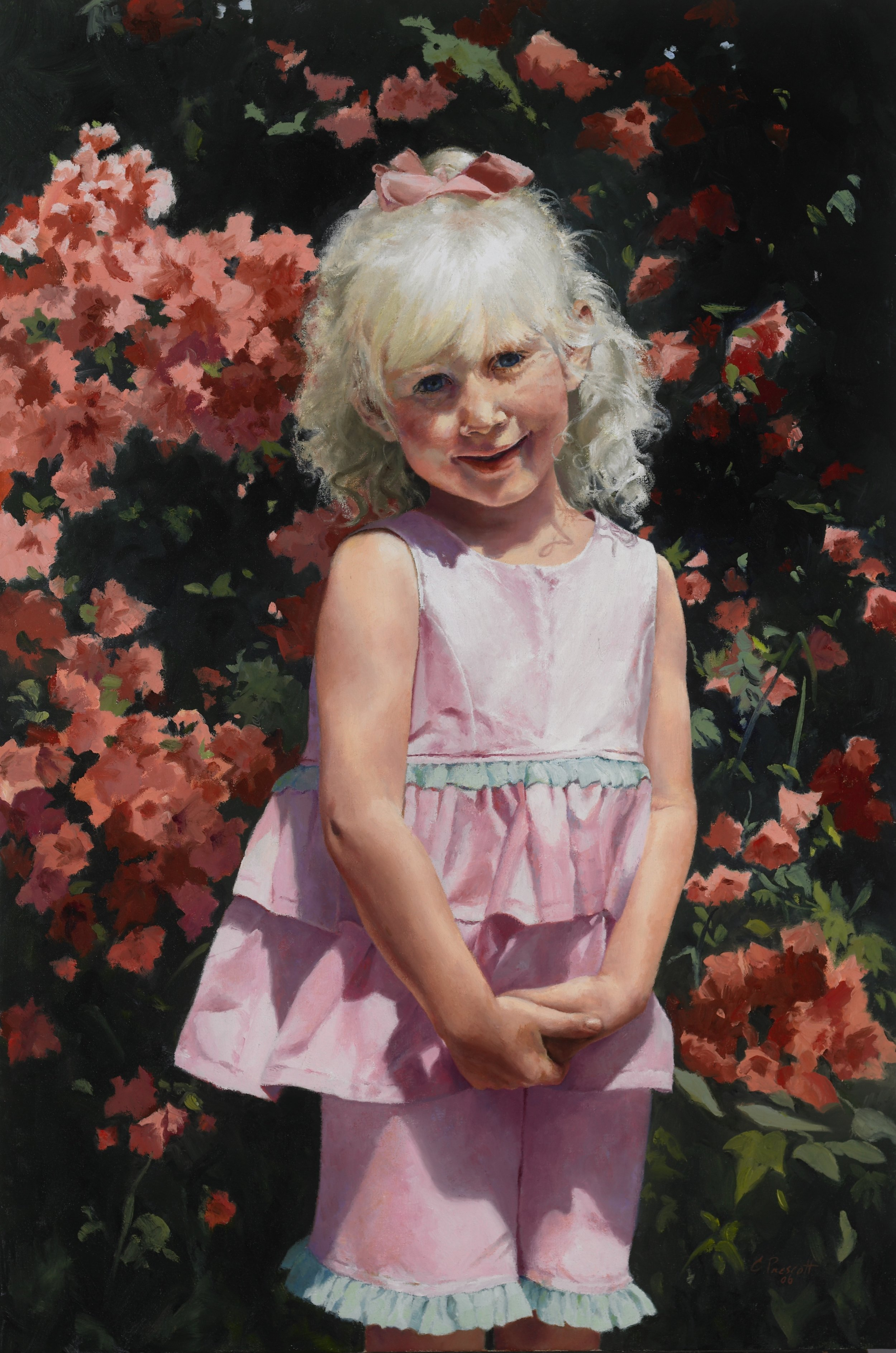 """Riley , Oil on Canvas, 2006, 36"""" x 24""""   Private Collection"""