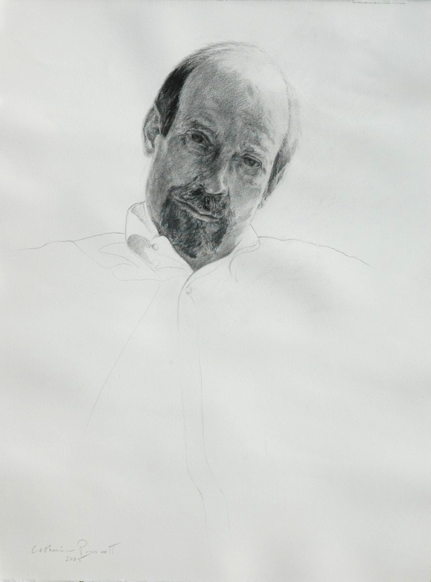 """You See Me: Portrait of Ted , Graphite on Paper, 2005, 22"""" x 16.75"""""""