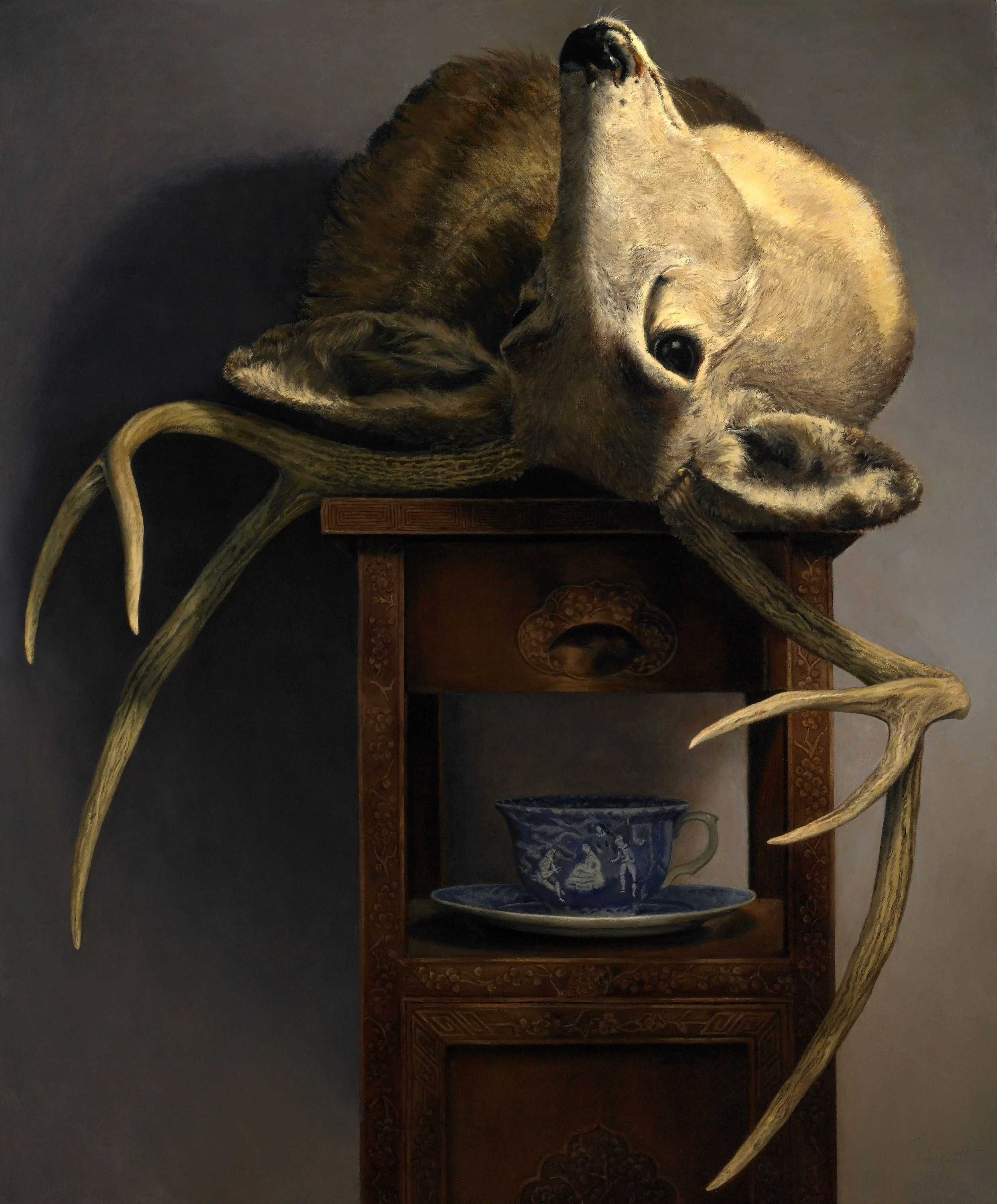 """Death is Not a Domesticated Pet , Oil on Canvas, 2009, 36""""x30"""" Private Collection"""