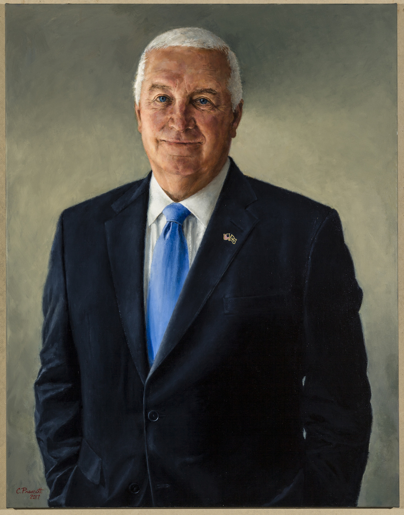 "Governor Tom Corbett ,  Official Portrait , Oil on Canvas, 36.5 x 28.5"", 2018  Collection, State Capitol of Pennsylvania"