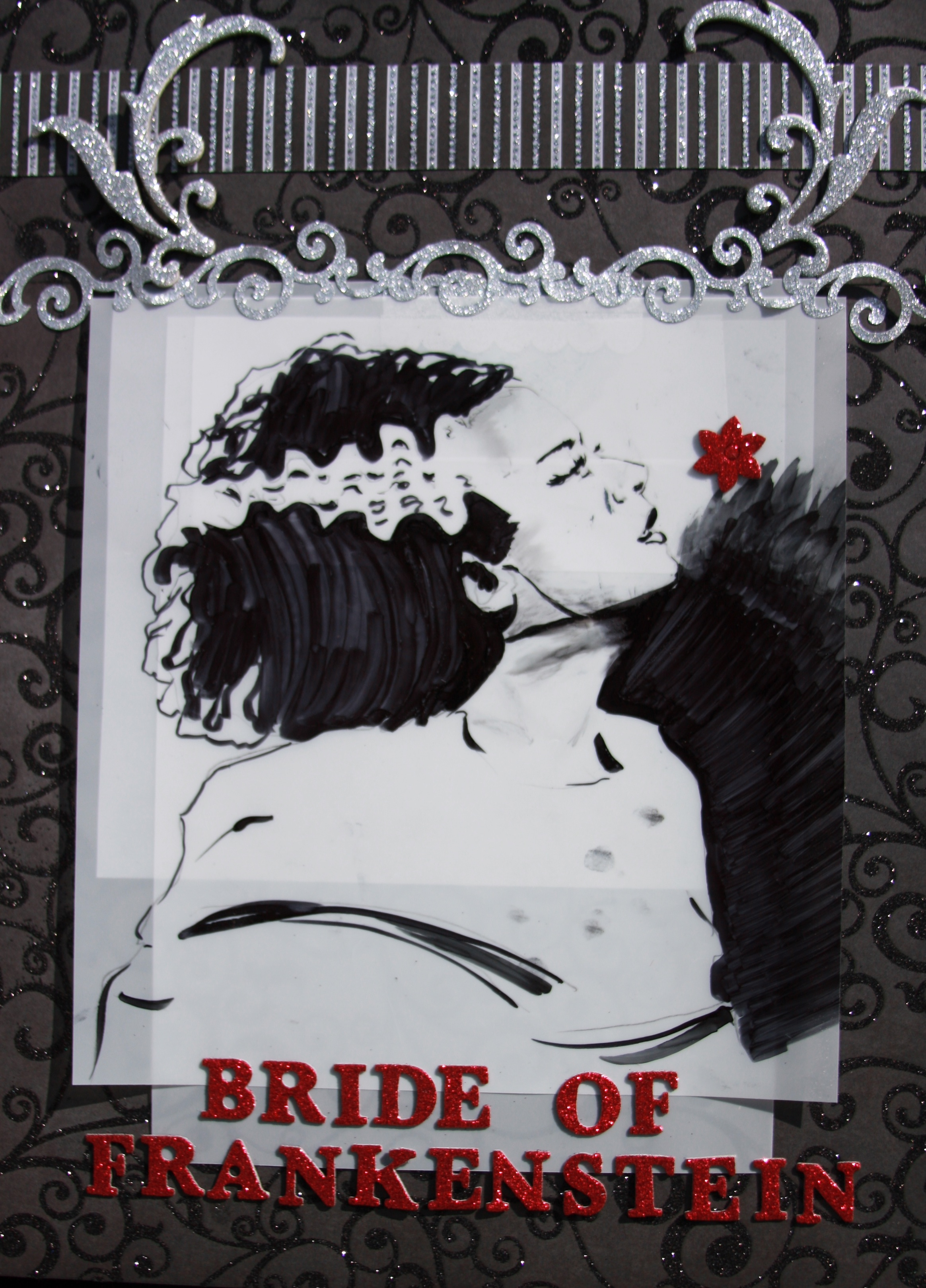 Bride of Frank ink on vellum mixed paper 2011.JPG