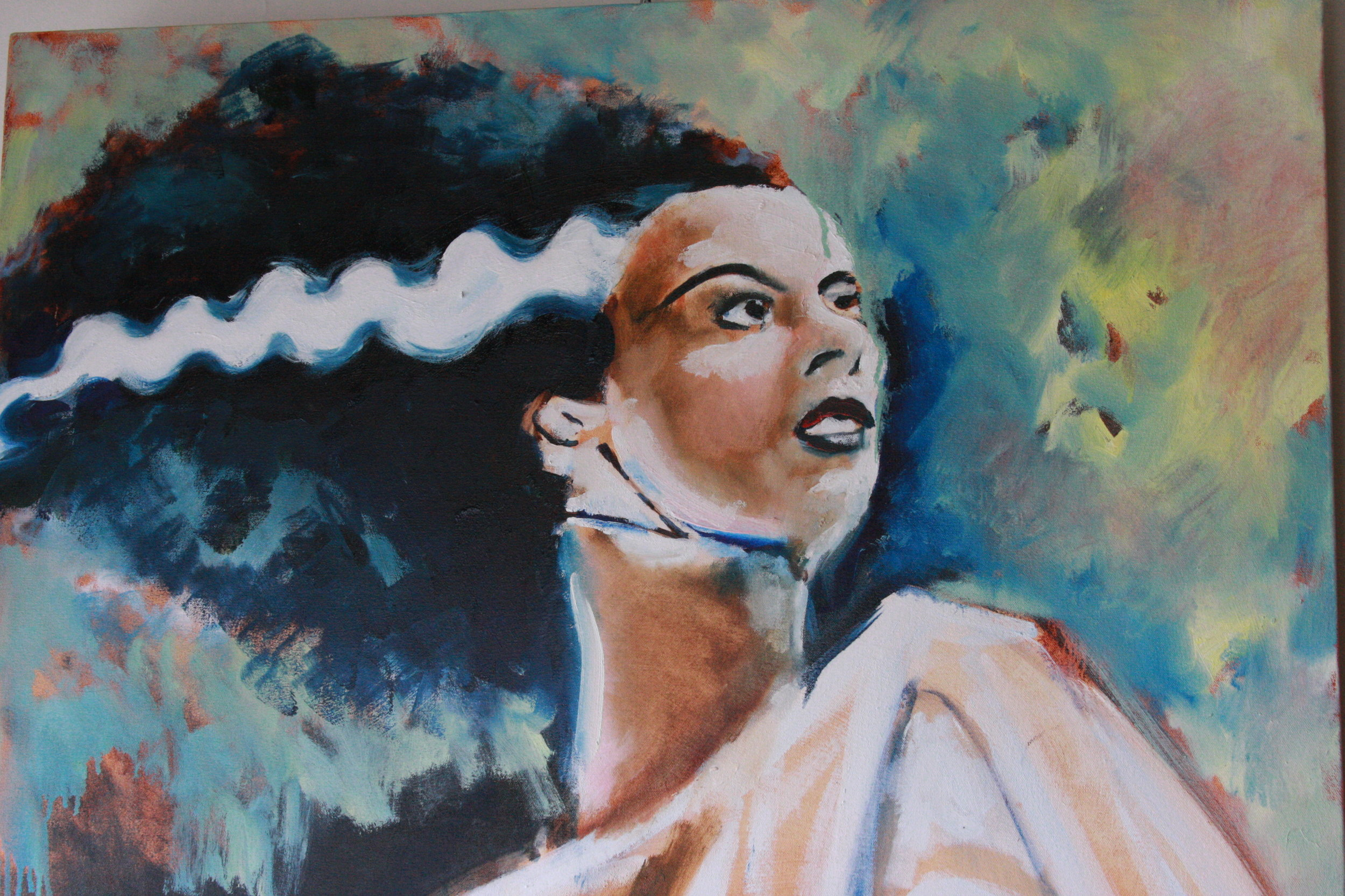 Bride of Frank oil on canvas SOLD 2011 2 x 3 feet.JPG