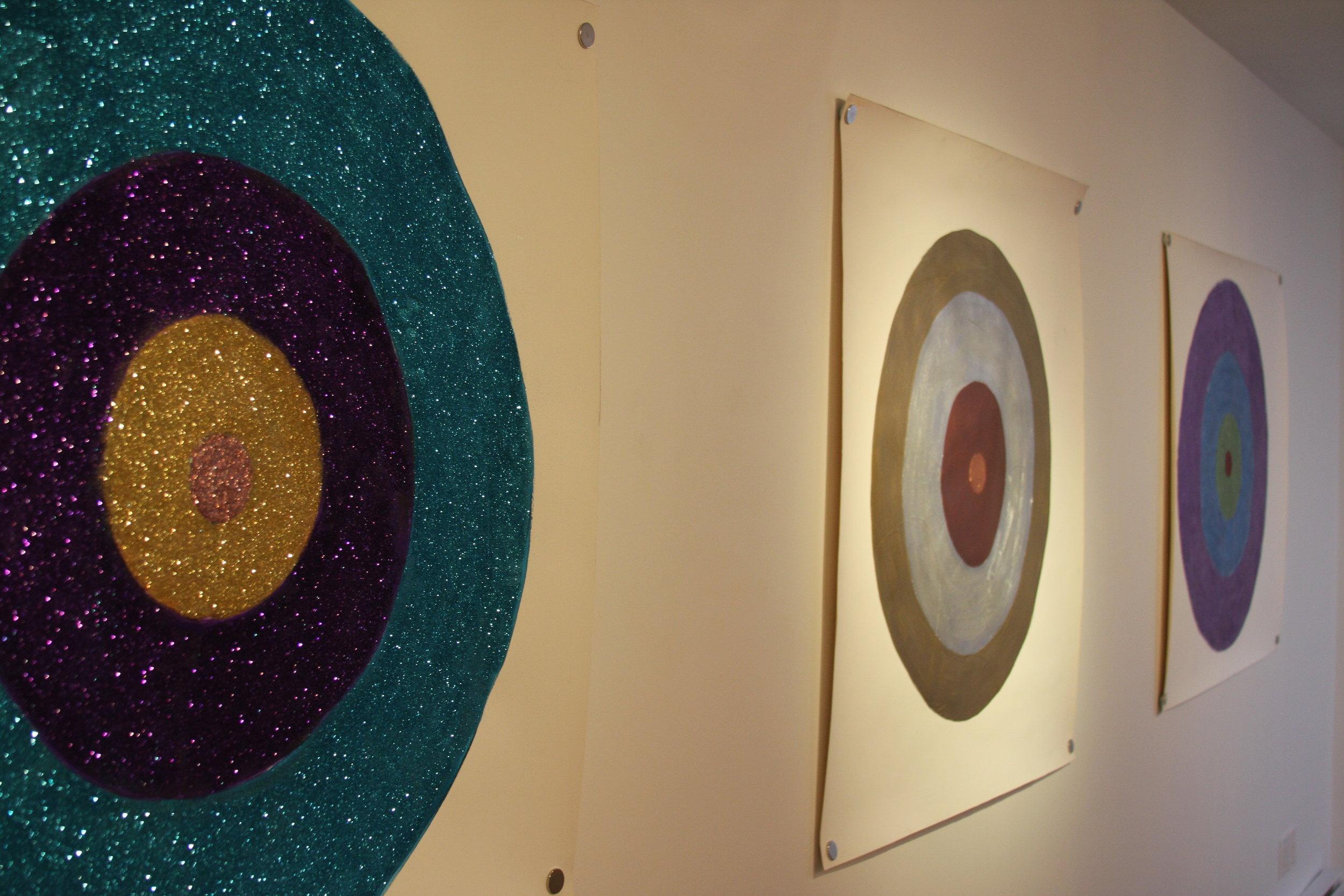 Sparkle paintings on paper 4 x 4 feet 2014.JPG