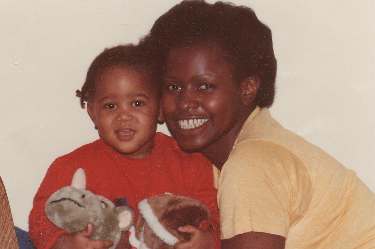 Mom and me in '83? '84?