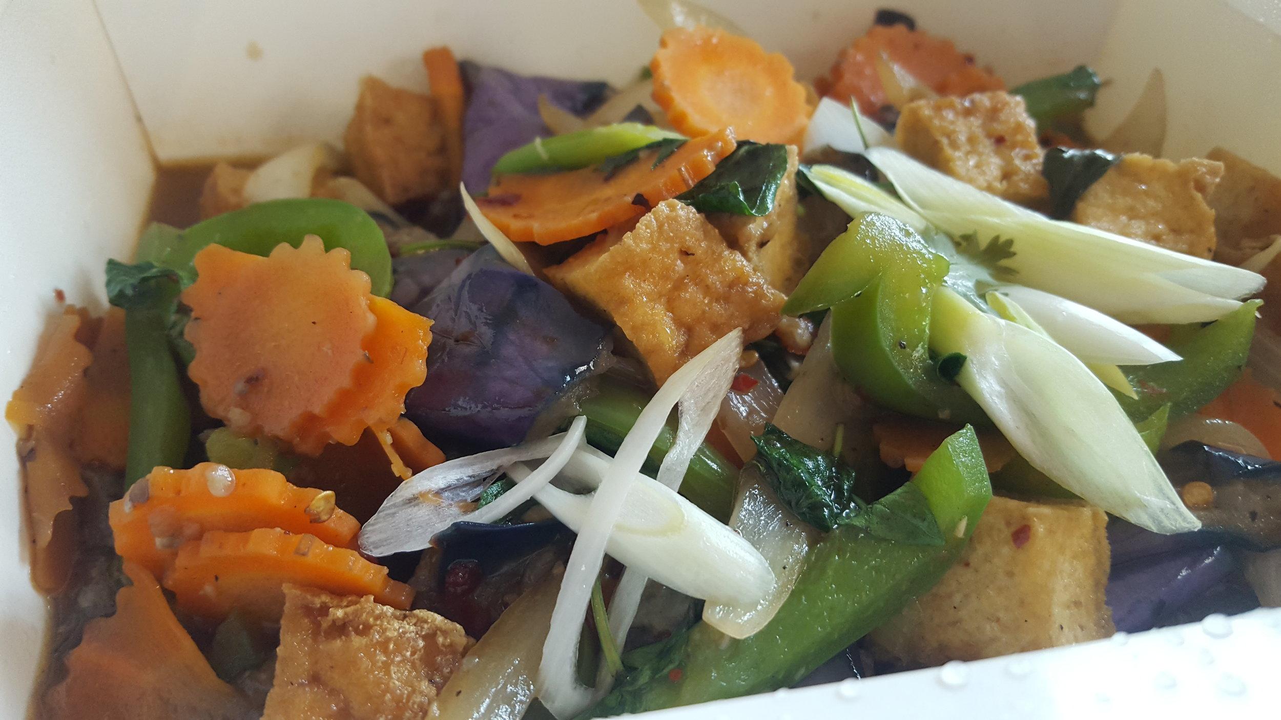 Spicy eggplant w/ tofu