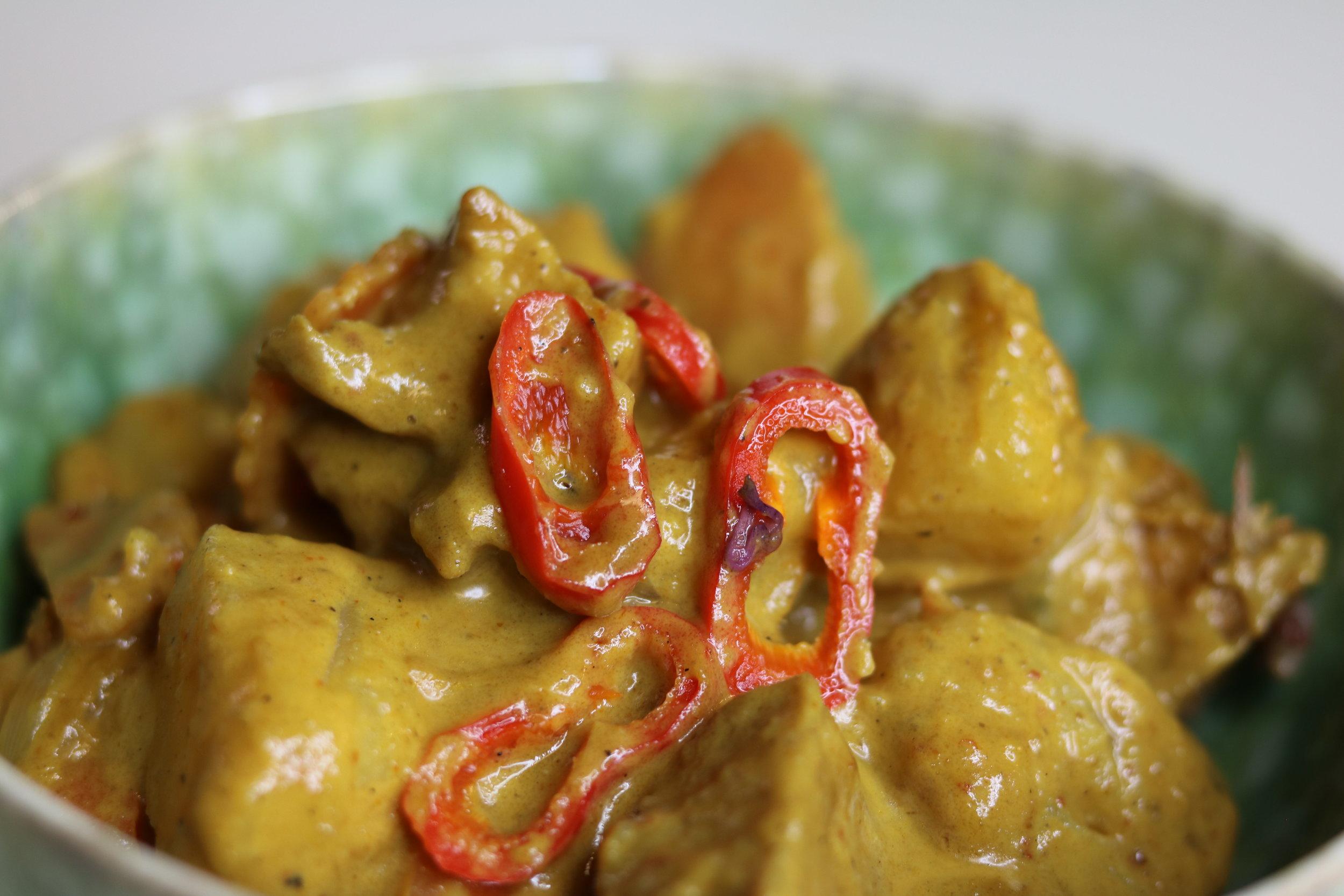Yellow curry w/ tofu