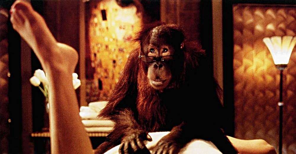 In the 1996 movie,  Dunston Checks In,  Bassey played Mrs. Dellacroce and enjoyed a hilariously seductive scene with Dunston the orangutan!