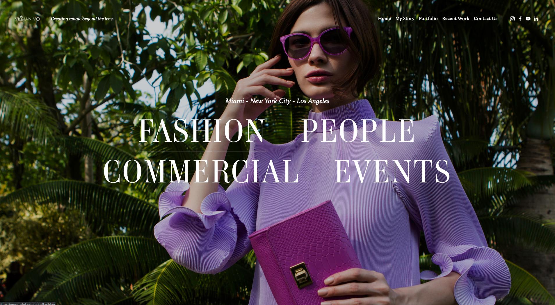 Vivian Vo - Fashion Photography Website