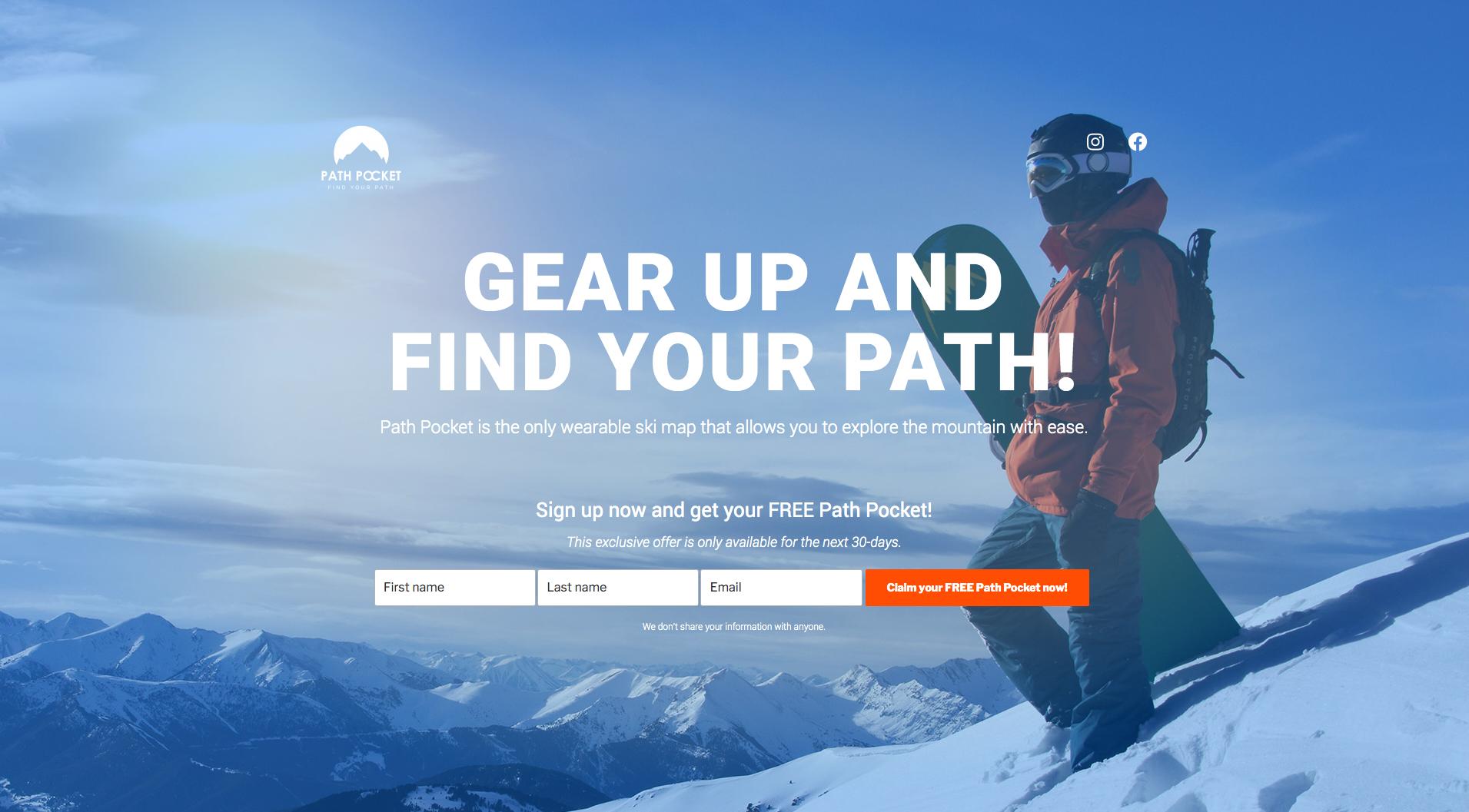 Path Pocket - Startup Landing Page